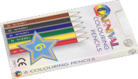Carnival Colouring Pencils Half Size 6 Pack